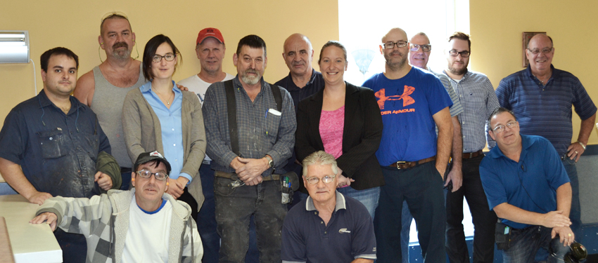 These Roski Composites employees will all be wearing moustaches during the 30 days of Movember.